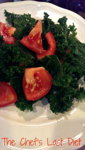 kale and tomato salad