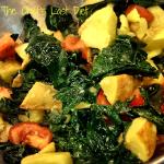 kale salad with potatoes