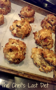 Bacon, Cheddar, Pecan Scones