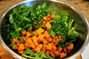 Sweet Potato and Baby Kale Salad