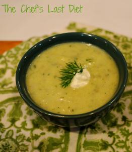 Chilled Zucchini and Potato Soup